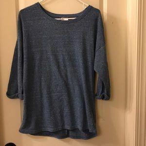 Heather blue 3/4 sweatshirt